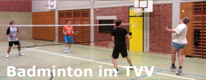 Sportbetrieb - Training der Badminton-Gruppe