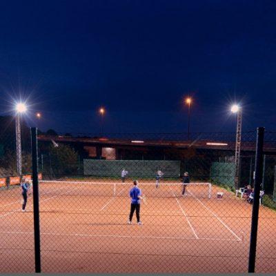 LED-Flutlichtanlage des Tennisvereins Aachen-Vaalserquartier