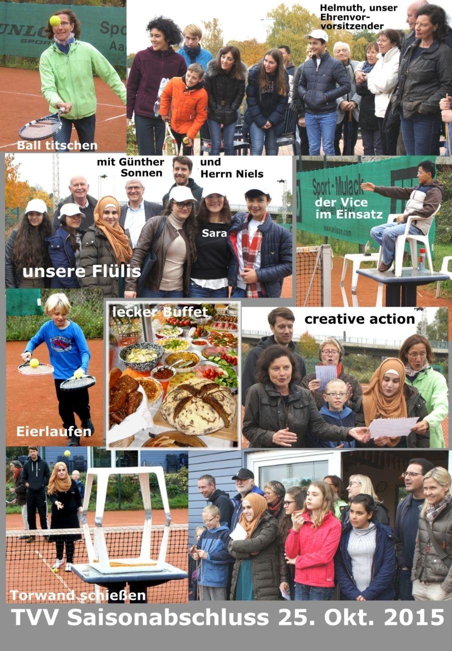 Abschlussfest der Tennis-Sommersaison 2015